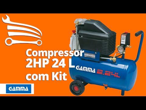 Compressor 25 2HP 24 Litros  com Kit de Pintura - Video