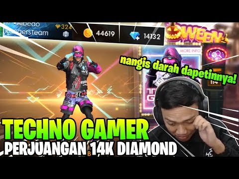 GILAKKK! 14K DIAMOND BUAT SPIN TECHNO GAMER DOANK! - Garena Free Fire