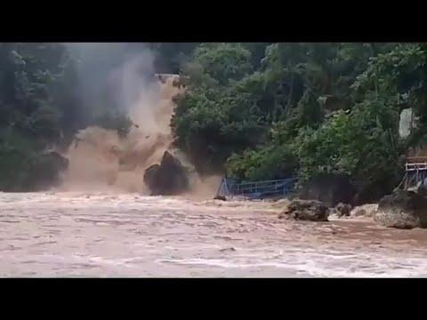 Sungai Bawah Tanah Pantai Baron Meluap dan Kondisi Terkini Banjir Gunungkidul 18 Maret 2019