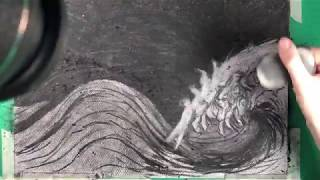 The process of the horse waves