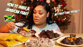 MAKING A JAMAICAN FEAST FOR THE FIRST TIME RECIPE + MUKBANG
