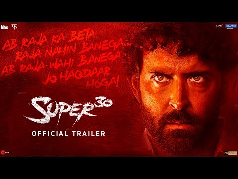 Actor Hrithik Roshn New Movie Super 30 Official Trailer