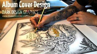 Album Cover Design from Dark Design Graphics for The Hackens Boys