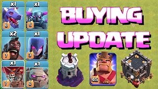 Clash Of Clans 😀 BUYING ALL UPGRADES!! 😀PART 1!! 🔸 NEW Xmas update🔸