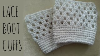 Lace Boot Cuffs | Crochet Pattern | Tutorial