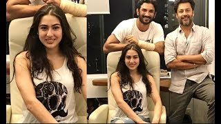Sara Ali Khan And Sushant Singh Rajput At Abhishek Kapur Office