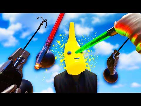 Lightsaber Grappling Hook Banana Battles in Blade and Sorcery VR Multiplayer!