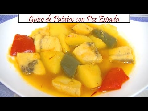 Guiso de Patatas con Pez Espada | Receta de Cocina en Familia