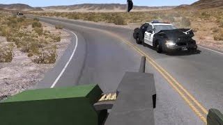 Machine Gun vs. Police | BeamNG.drive