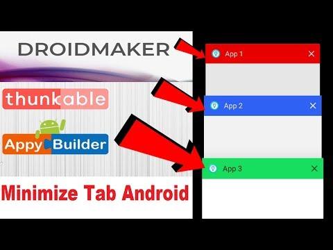 Minimize Tab Color Change Fixed | DroidMaker | Thunkable
