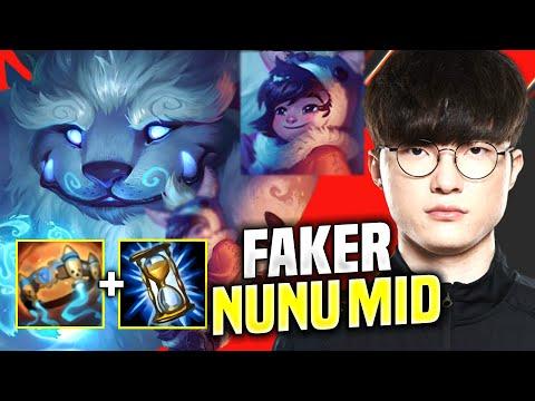 FAKER CRAZY NUNU MID PICK! - SKT T1 Faker Plays Nunu Mid vs Corki! | KR SoloQ Patch 10.13