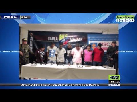 Capturados presuntos asesinos selectivos en Bajo Cauca - Teleantioquia Noticias