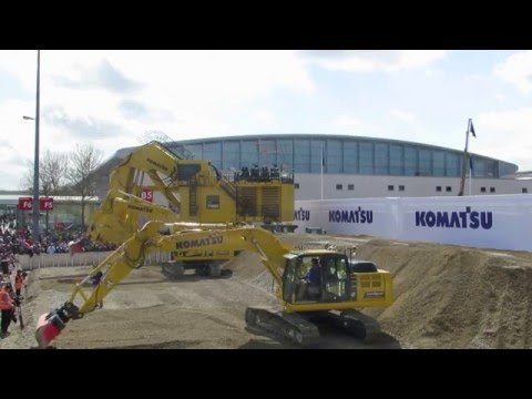 Komatsu Demo Bauma 2016 - Construction Equipment Display - Messe München