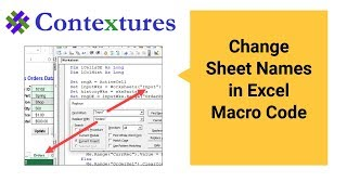 How to Change Sheet Names in Excel Macro Code