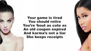 Katy Perry  Swish Swish (Lyrics On Screen) Ft. Nicki Minaj