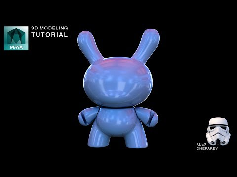 Maya Beginner Modeling Tutorial – Part 1