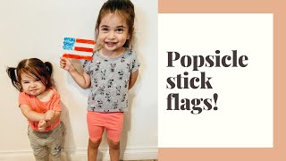 Fourth Of July Craft Popsicle Stick Flags