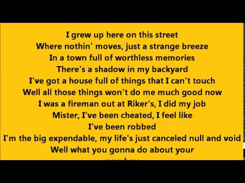 Bruce Springsteen - Roulette with Lyrics
