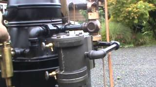 Live Steam Boiler with Engine Flyball Governor Whistle Pump Off Grid SOLD