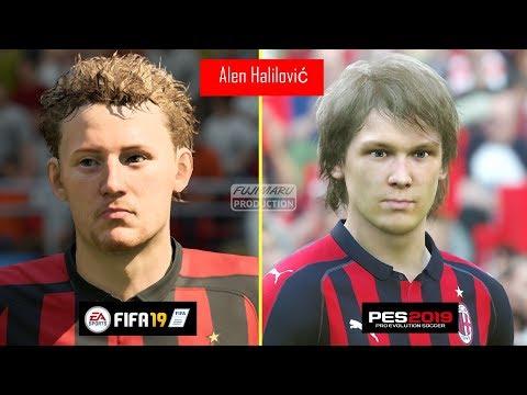 FIFA 19 Vs PES 2019 | Famous Young Players Faces Comparison