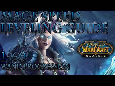 Classic WoW: Mage Speed Leveling Guide | Wand Progression