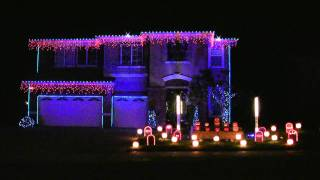 Halloween Light Show 2010 HD - Sandstorm Techno ( Darude )