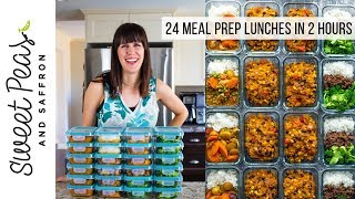 24 Meal Prep Lunches in 2 Hours!