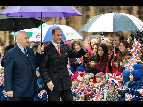 HRH Prince Edward, The Earl of Wessex, Visits Bolton School