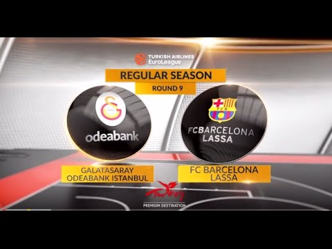 EuroLeague Highlights RS Round 9: Galatasaray Odeabank Istanbul 78-64 FC Barcelona Lassa