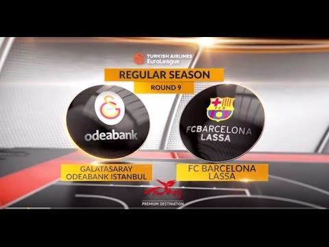 EuroLeague Highlights RS Round 9: Galatasaray Odeabank Istanbul 78-64 FC Barcelona Lassa