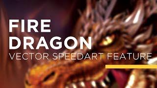 Vector Speed Art - Fire Dragon
