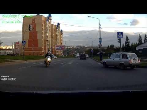 Подборка аварий с участием мотоциклистов