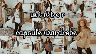 Winter Capsule Wardrobe | 15 Pieces 40+ Outfits Options | Pregnant