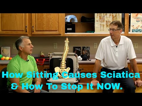 How Sitting Causes Sciatica & How to Stop It NOW. (Products & Tips)