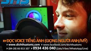 [Dệt Phong Phú] Thu âm lời thoại tiếng Anh bản xứ cho video giới thiệu công ty