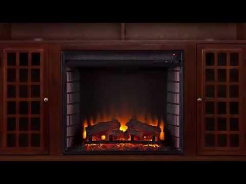 Southern Enterprises Narita Electric Fireplace Media Console - Espresso