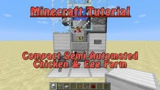 Minecraft Compact Semi Automated Chicken U0026 Egg Farm (Tutorial)
