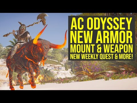 Assassin's Creed Odyssey Herakles Pack GIVES UNIQUE PERK, New Mount, Weapons & More! (AC Odyssey DLC