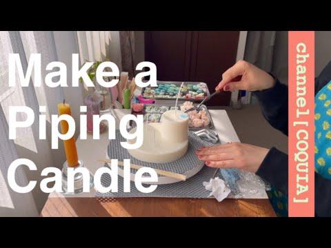 , title : 'Candle Atelier Vlog | 制作風景 | パイピングキャンドルを作ります | channel[COQUIA]