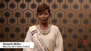 Introduction Video of Boipelo Mabe Miss South Africa 2017 Contestant from Alexandra, Gauteng