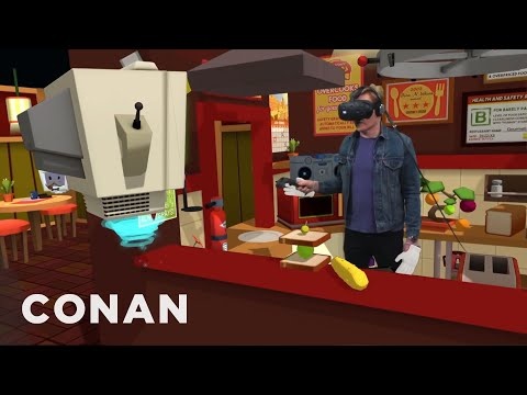 Conan zkouší virtuální realitu
