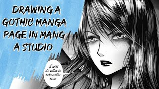 Drawing a Gothic Manga page in Manga Studio EX
