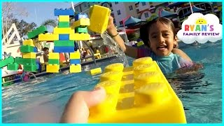 LegoLand Hotel Swimming Pool Tour! Kids Playtime at the Pool Family Fun Vacation