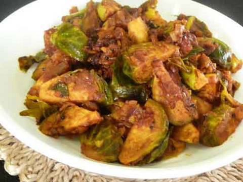 Brussels Sprout Subzi – Indian Vegetarian Recipe