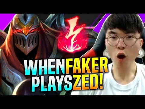 FAKER Tries HOW GOOD is ZED NOW! - SKT T1 Faker Plays Zed vs Leblanc Mid! | KR SoloQ Patch 9.24
