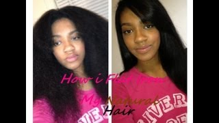 Для самых модных девчонок, How i Flat Iron my Natural Hair!!!