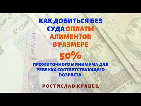 Алименты в 50 процентов на ребенка | Адвокат Ростислав Кравец