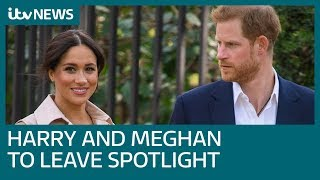 Palace warns Harry and Meghan over stepping back from life as senior royals | ITV News