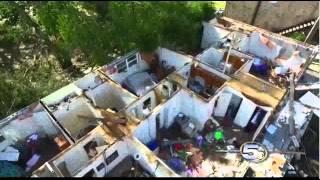 Pensacola Florida Tornado Damage WKRG TV 5 News Footage by Jim Johnson