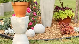 DIY Concrete Garden Ornaments